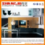 High glossy acrylic kitchen cabinet