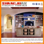 Fashionable Design Contemporary solid wood Kitchen Cabinet for Decoration