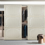 sliding door with lacquer artwork