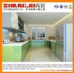 Guangzhou  Made Quartz top and MDF UV kitchen cabinet