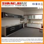 High Gloss Black UV Kitchen Cabinets